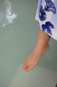 足湯で身体もぽかぽか
