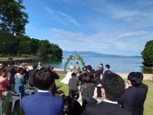 甥の結婚式に出席してきました
